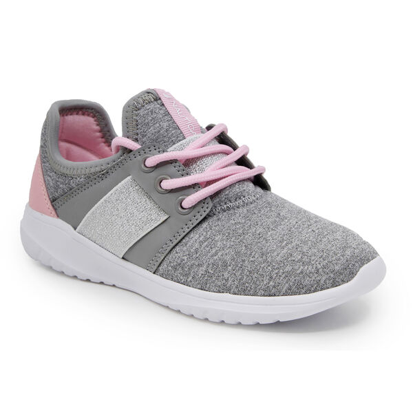 GIRLS COMFY ALL DAY SNEAKER - Charcoal Heather