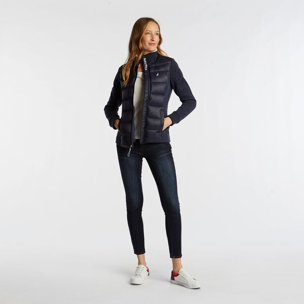 MIXED MEDIA NAUTEX JACKET - Stellar Blue Heather
