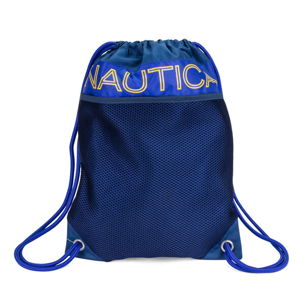BRIGHTS CINCH SACK DRAWSTRING BACKPACK IN COBALT - Black Shadow Wash