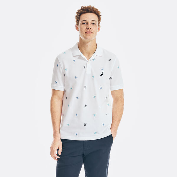 CLASSIC FIT PRINTED POLO - Bright White