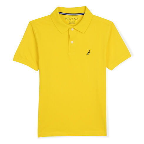 Boys' Anchor Stretch Deck Polo (8-20) - Marigold