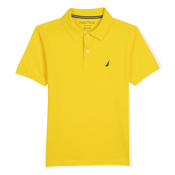 BOYS' STRETCH DECK POLO (8-20) - Marigold