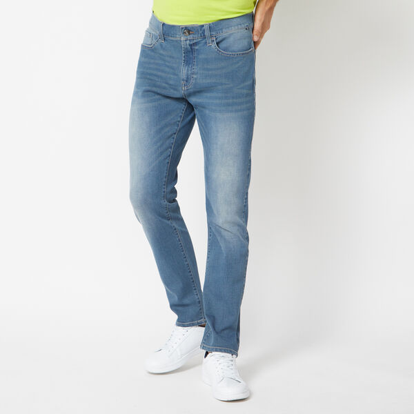 STRETCH SLIM FIT DENIM IN AURA BLUE WASH - Estate Blue