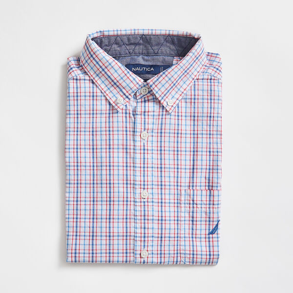 PLAID SHORT SLEEVE SHIRT - Bright White
