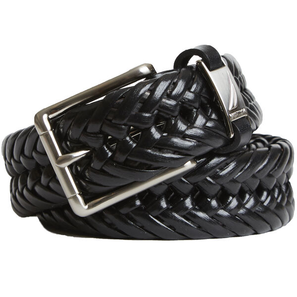 Big & Tall Basketweave Casual Belt - Black
