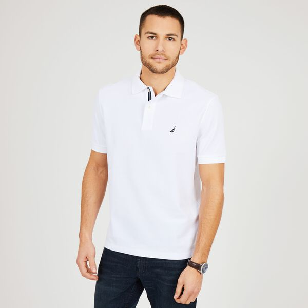 BIG & TALL CLASSIC FIT PERFORMANCE MESH POLO - Bright White