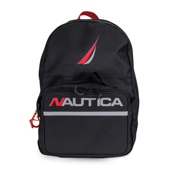 BACKPACK WITH LUNCH BAG IN BLACK - Black