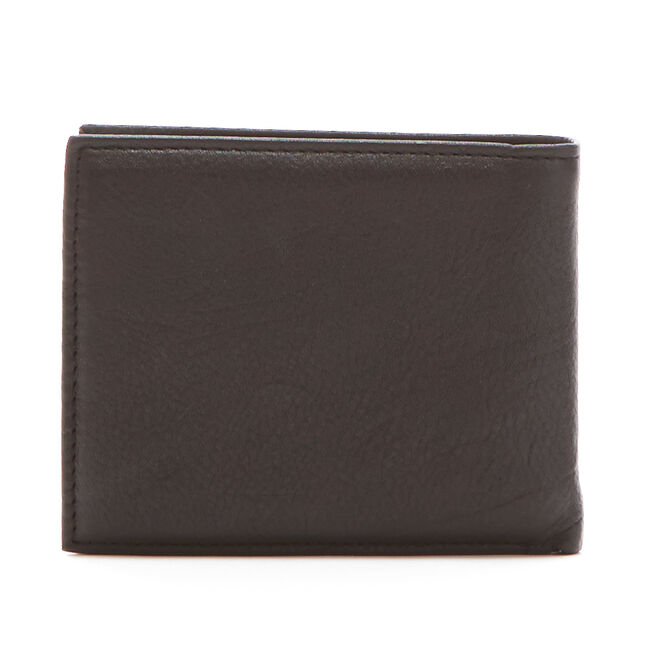 Pebbled Leather J-Class Passcase Wallet,Rust Blue Wash Outlet,large