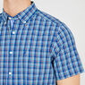 Classic Fit Plaid Button Down,Estate Blue,large