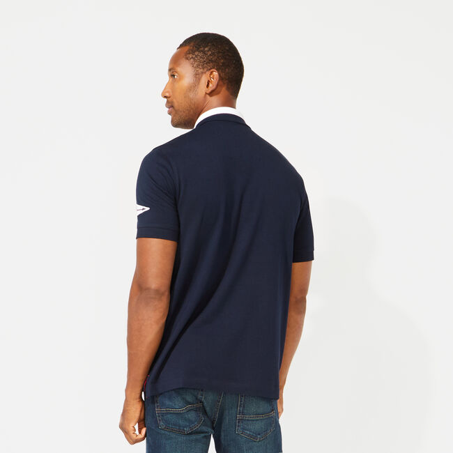 CLASSIC FIT SOLID POLO,Navy,large
