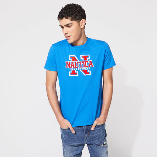 NAUTICA JEANS CO. LOGO GRAPHIC TEE - True Navy
