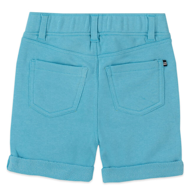 GIRLS' STRETCH PULL-ON SHORT (8-16),Stormy Blue Wash,large