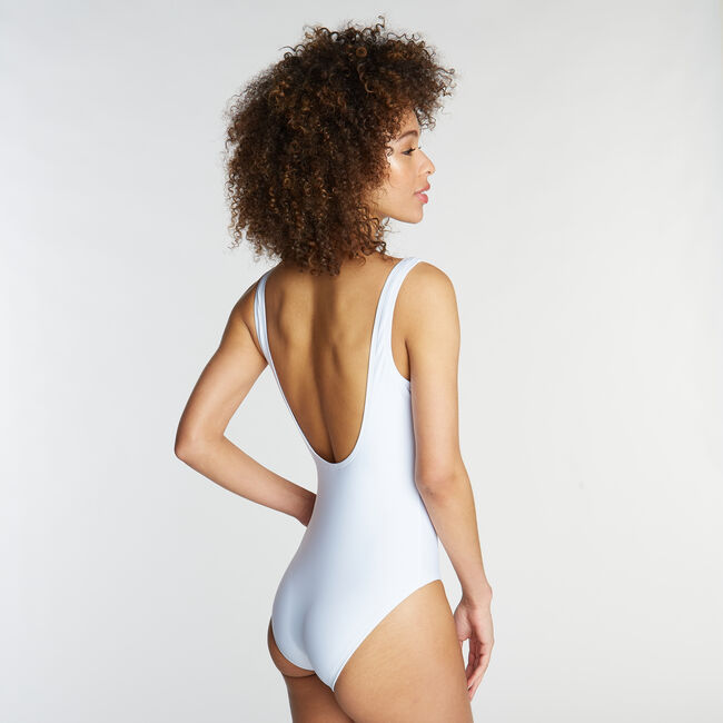 One-Piece Swimsuit in Nautica '83 Graphic,Antique White Wash,large
