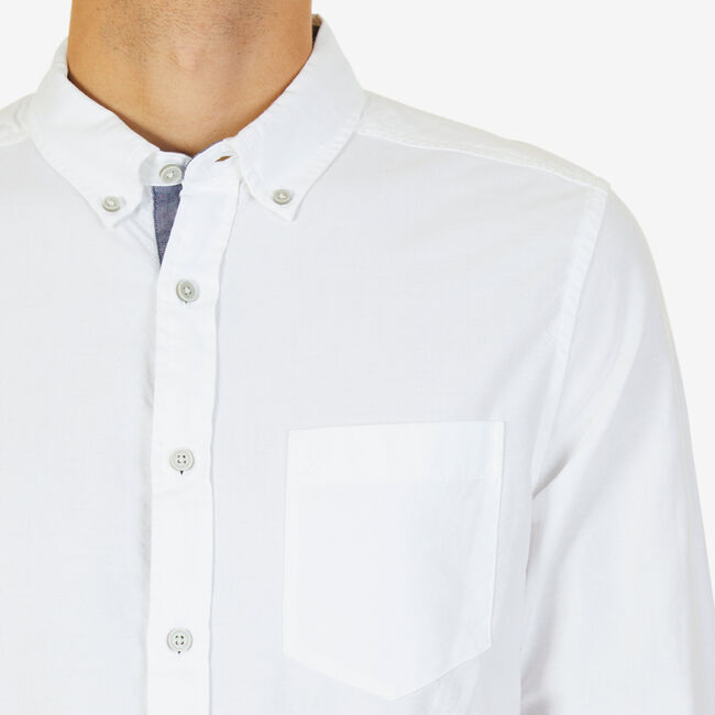 TWILL OXFORD SHIRT,Bright White,large