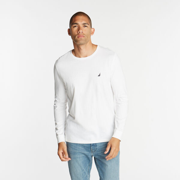 Crewneck Long Sleeve Tee - Bright White
