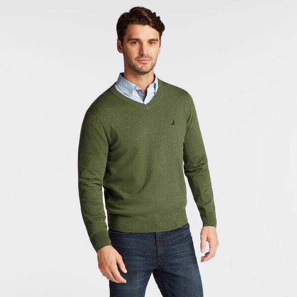 NAVTECH V-NECK SWEATER - Pineforest