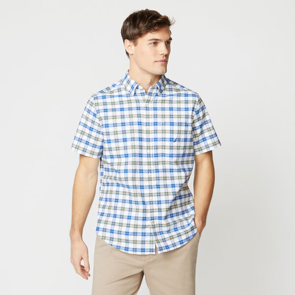 PLAID SHORT SLEEVE OXFORD SHIRT - Everglades Green