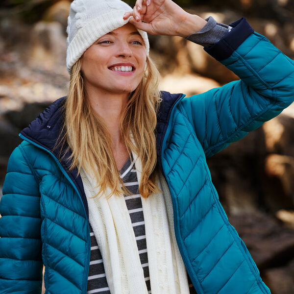 Reversible Packable Puffer Jacket - Tugboat Blue