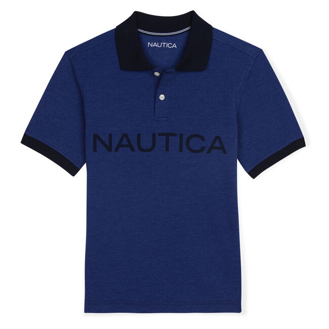 Boys' Catch of the Day Polo (8-20),Harbor Mist,large