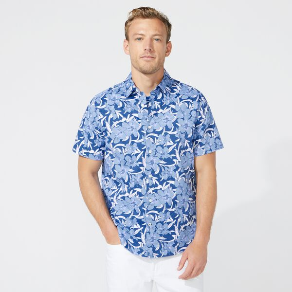 BIG & TALL NAVTECH FLORAL PRINT SHIRT - Limoges