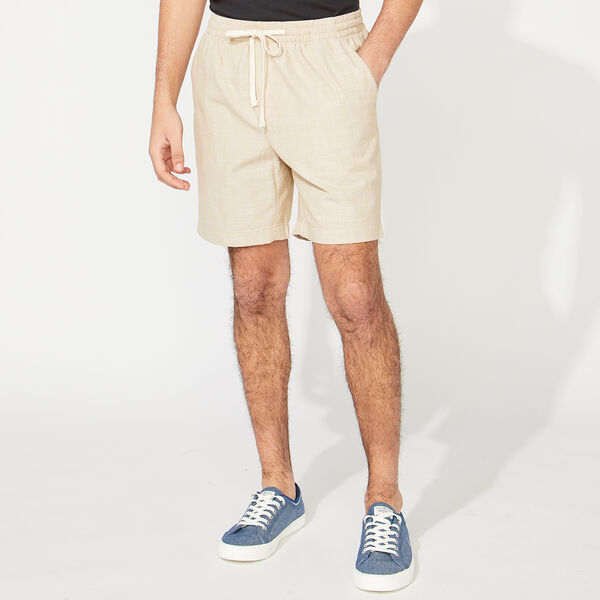 BIG & TALL KNIT SHORTS - Military Tan