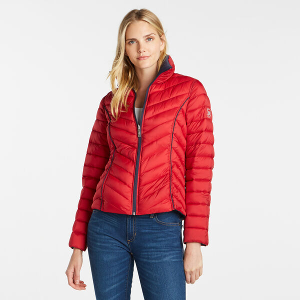 Reversible Packable Puffer Jacket - Tomales Red