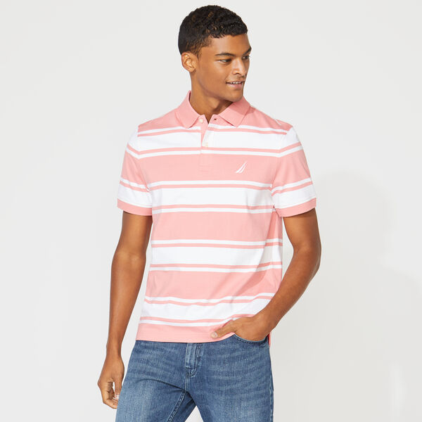 CLASSIC FIT STRIPED POLO - Pink Shrimp