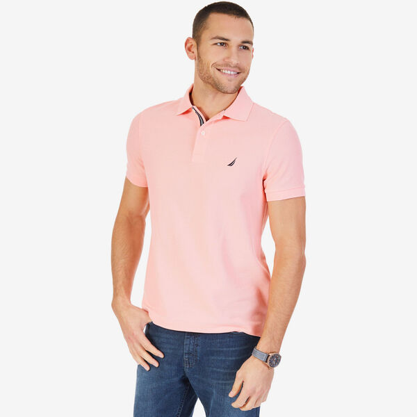 Short Sleeve Slim Fit Performance Tech Polo Shirt - Sunset