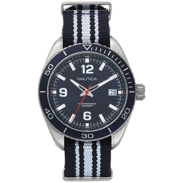Key Biscayne 3-Hand Watch - Navy & White - Multi