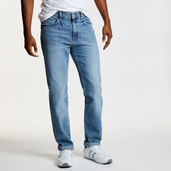 Light Tidewater Wash Straight Leg Jeans - Blue