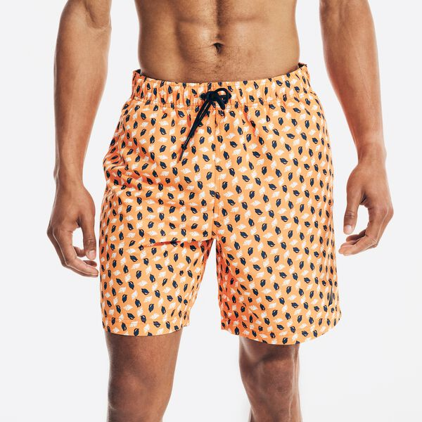 """SUSTAINABLY CRAFTED 8"""" SHELL PRINT SWIM - Fireside"""