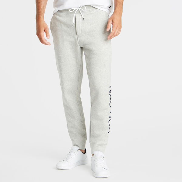 TRACK PANT WITH LEG LOGO - Grey Heather