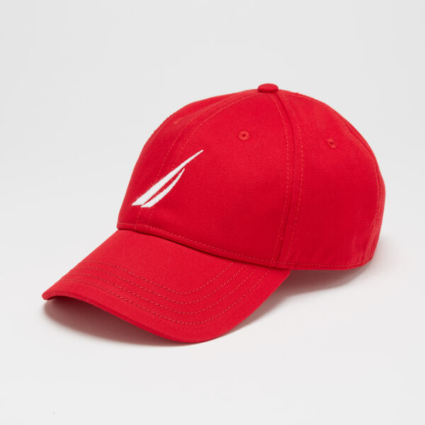 OVERSIZED J-CLASS 6-PANEL CAP - Nautica Red