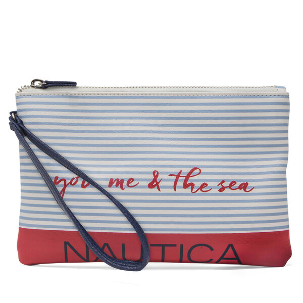 Boating Season Flat Wristlet - Navy