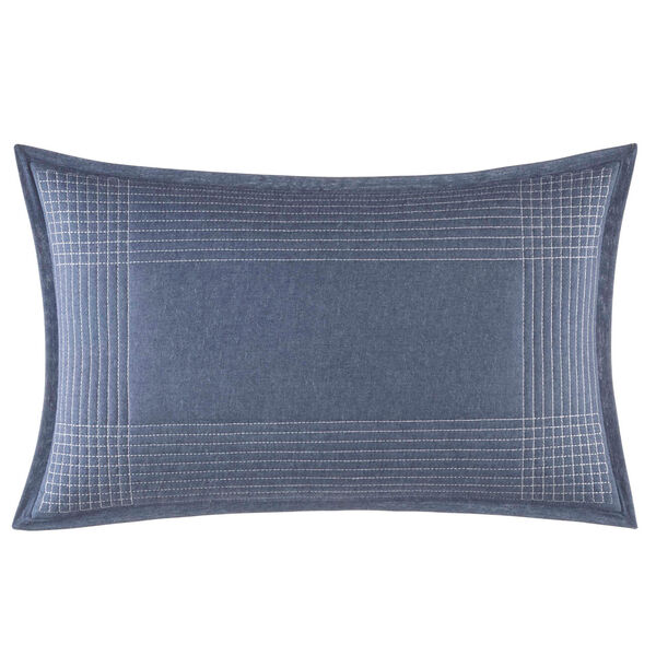 Norwich Blue Striped Pillow - Navy Dusk