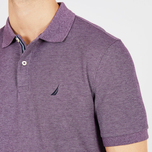 Classic Fit Performance Mesh Polo,Majestic Purple,large