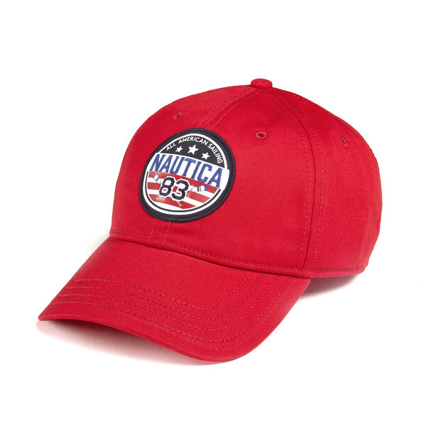 BASEBALL CAP IN USA PATCH - Nautica Red