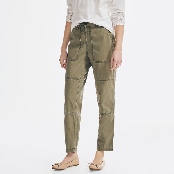 SUSTAINABLY CRAFTED UTILITY PULL-ON PANT - Teal Wave