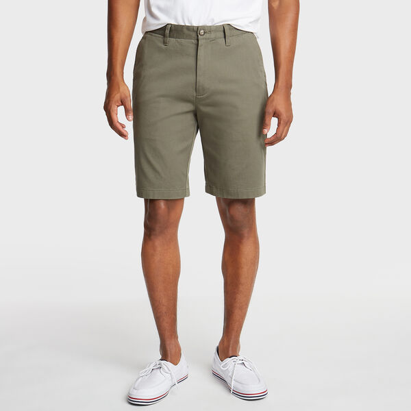 "10"" CLASSIC FIT DECK SHORTS WITH STRETCH - Hillside Olive"