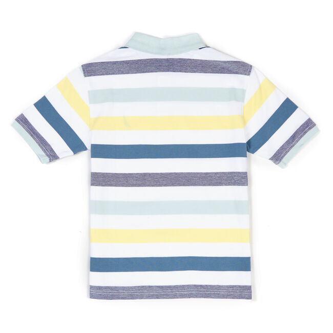 Little Boys' Edgewater Striped Jersey Polo (4-7),White,large