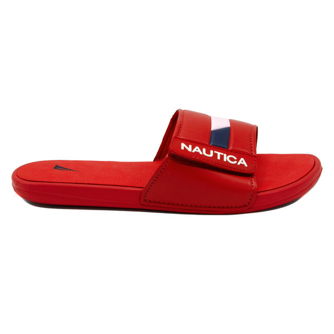 Bower 2 Slide Sandal in Red,Nautica Red,large