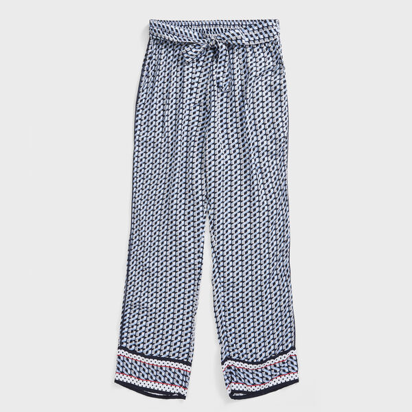 COLORBLOCK GEO PRINT PANTS - Bolt Blue