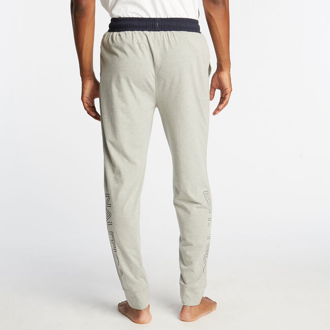 CLASSIC FIT GRAPHIC HERITAGE SLEEP JOGGERS,Grey Heather,large