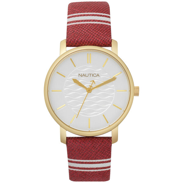 Coral Gables 3-Hand Watch - Red/White - Multi