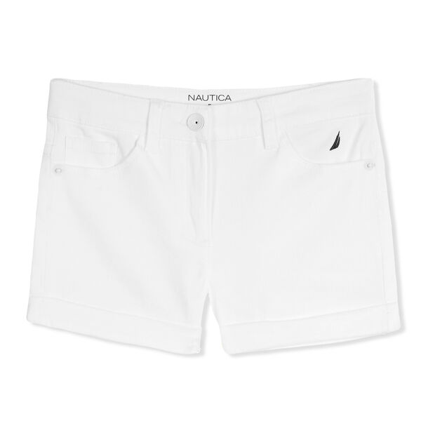 Girls' Stretch Twill Shorts - White