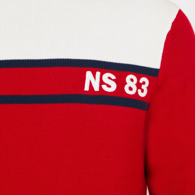 Big & Tall NS-83 Colorblock Turtleneck,Nautica Red,large