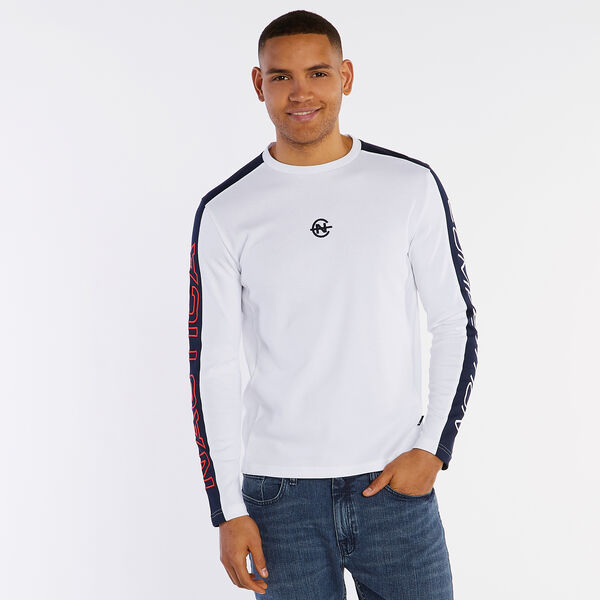 Competition Long Sleeve Crewneck T-Shirt - Bright White