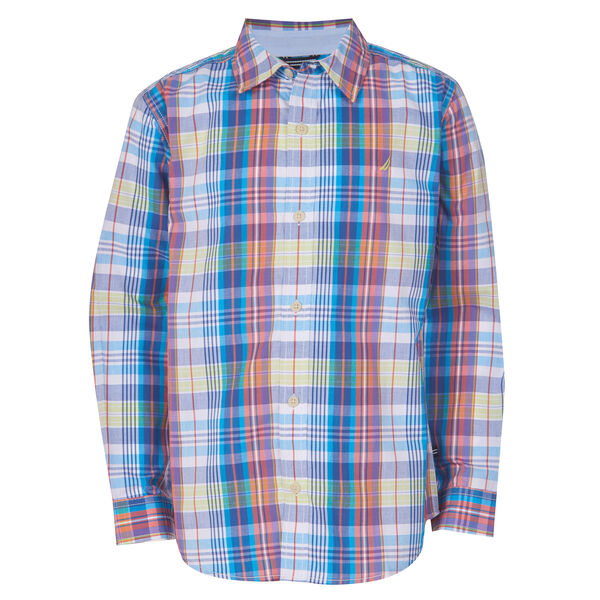 BOYS' MAURICIO PLAID WOVEN SHIRT (8-20) - Tillman Bay