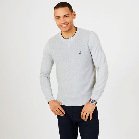 Navtech Performance Crewneck Sweater - Grey Heather