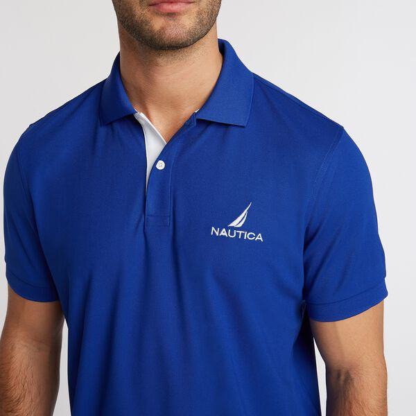 Classic Fit Solid Navtech Polo - Bright Cobalt